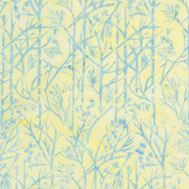 French Blue Batiks - Twigs Sunshine Yardage