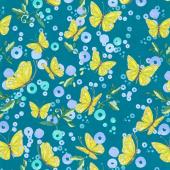 Cottage Bleu - Butterflies Pond Yardage