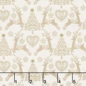 Scandi 4 - Set Reindeer Linen Yardage