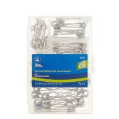 Curved Safety Pin Assortment