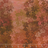 Diaphanous - Enchanted Vines Spice Digitally Printed Yardage