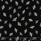 Bee's Life - Bees Black Yardage