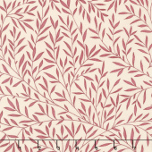 Kelmscott - Lily Leaf Red Yardage