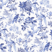 Blue Byrd - Blue Aviary Porcelain Yardage