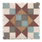 Barn Quilts Coaster - Friendship Star