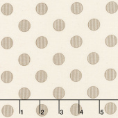 Harvest Road - Modern Dot Eggshell Yardage