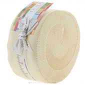 Bella Solids Snow Jelly Roll