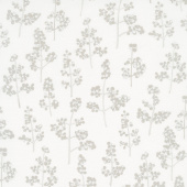 Winter Shimmer 2 - Berries Branches White Pearlized Yardage