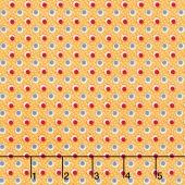 Merry Go Round - Double Dots Yellow Yardage