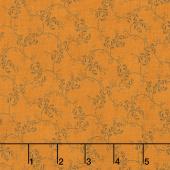 Harvest Moon - Petal Vines Orange Yardage