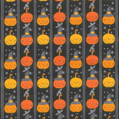 A Spooky Good Time - Pumpkin Line Midnight Yardage