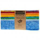 "Tonga Treats Batiks - Colorwheel Rainbow 10"" Squares"