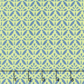 Home Grown - Floret Blue Green Yardage