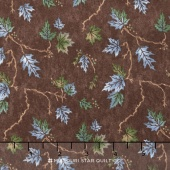 River Journey - Summer Leaves Bark Yardage