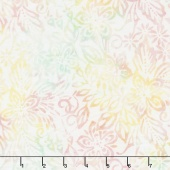Icing on the Cake Batiks - Packed Floral Mix Ivory/Pink Yardage
