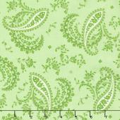 Greenery - Paisley Green Yardage
