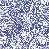 Tonga Batiks - Indigo Dreams Tropical Leaves Regal Yardage