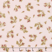 Burgundy & Blush - Tossed Rose Buds Blush Yardage
