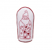 Redwork Quilting Santa Figurine Kit