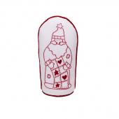 Redwork Quilting Santa Figurine Kit