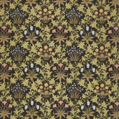 May Morris Studio - Celadine 1896 Ebony Yardage