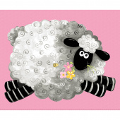 Mama Lal - Sheep Play Mat Pink Panel