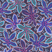 Kaffe Fassett Collective Spring 2018 - Dark Lacy Leaf Blue Yardage