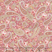Zellie Ann - Floral Paisley Rose Yardage