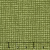 Woolies Flannel - Houndstooth Green Yardage