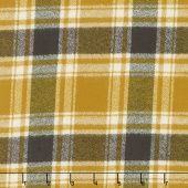 Mammoth Flannel - Plaid Saffron Yardage