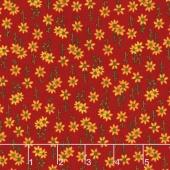 Lancaster - Sunflowers Red Yardage