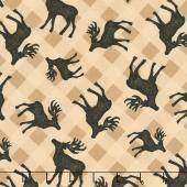 Plaid for the Holidays - Deer Toss Tan Yardage
