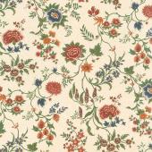 Prairie Dreams - Prairie Flowers Tan Yardage