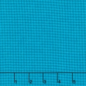 Local Color - Houndstooth Turquoise Yarn-Dyed Flannel Yardage