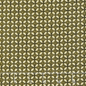 Pansy Noir - Curly Buds Olive Metallic Yardage