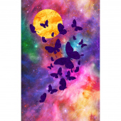 Artisan Spirit - Imagine Novelty Flutter Butterfly Purple Digitally Printed Panel