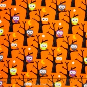 Ghouls and Goodies - Ghouls Owl Orange Yardage