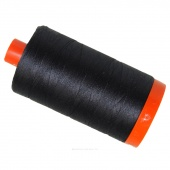 Aurifil 50 WT Cotton Mako Large Spool Thread Very Dark Grey