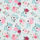 Botanical Oasis - Bouquets Green Yardage