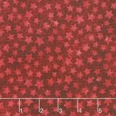 Stonehenge Stars and Stripes VI - Star Blender Red Yardage