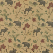 Return to Cub Lake - Cub Lake Golden Flannel Yardage