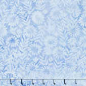 French Blue Batiks - Flower Field French Blue Yardage