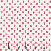 Gretel - Daisy Red Yardage