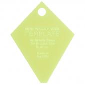 "Missouri Star Mini Periwinkle (Wacky Web) Template for 2.5"" Squares"