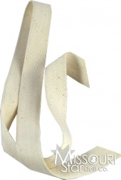 "3/4"" Cotton Twill Tape - Ivory"