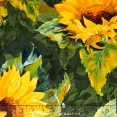 Flowers of the Sun - Large Sunflowers Multi Yardage