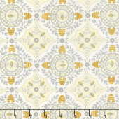 Bee Joyful - A Bee's World Parchment Yardage
