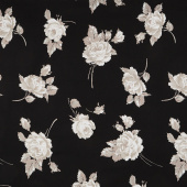 "Serenity - Floral Black 108"" Wide Backing"