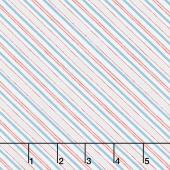 Homemade Happiness - Diagonal Stripe Cream Yardage