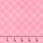 Lil' Sprout Too! - Lattice Pink Flannel Yardage